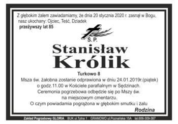 klepsydra Ś.P. Stanisław Królik